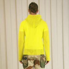 Griffin Mesh Hoodie - Yellow £210   #griffin #griffinstudio #menswear #sportswear #fashion #lovelife #lovesummer #loveland #podlife