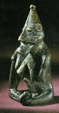 Freyr. Bronze. Rällinge, Södermanland, Sweden. Swedish History Museum, Stockholm.  Discovered 1904