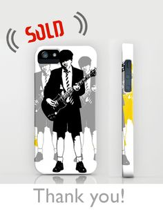 SOLD!!!  .. Angus Young  IPHONE (5, 5S) CASE .. Thank you!! Angus Young, Laptop Covers, 5s Cases, Invitations, Iphone, Artist, Artwork, Prints, Design