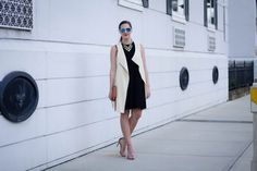 Sleeveless vest and asos dress via With Style and a Little Grace