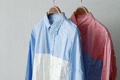 engineered garments duo-tone shirt