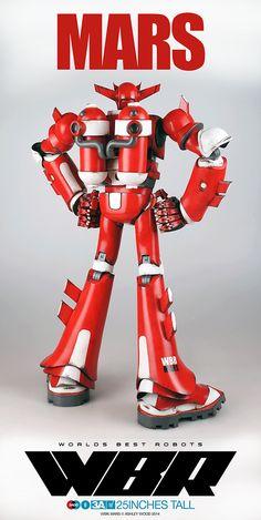 Worlds Best Robots: Mars #threeA #WorldOf3A #AshleyWood #WorldsBestRobots #WBR #artpiece #toy #actionfigure #toyplanet #toycommunity #toys #hobby #toycollector #art #collectibles #vinyl #designertoys #toyphoto #toyphotography #collecting #toylife