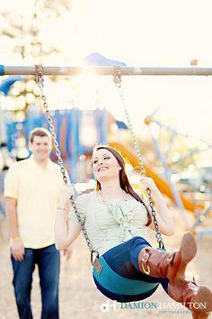 Cute Couple on swing