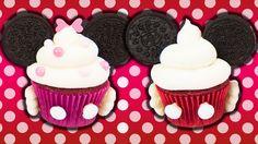 Minnie & Mickey Mouse Cupcakes w/ Charli's Crafty Kitchen Minnie Mouse Cupcake Cake, Disney Cupcakes, Cupcake Cookies, Yummy Treats, Sweet Treats, Cupcake Videos, Marshmallow Pops, Minnie Birthday, Oreo