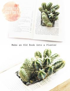..Twigg studios: old book turned planter tutorial