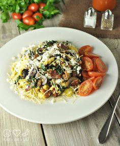 Bacon, Spinach and Feta Scramble - Low Carb, Gluten Free | Peace Love and Low Carb