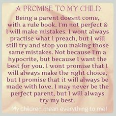 A promise to my child