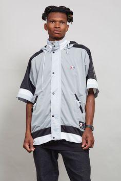 Vintage muti coloured short sleeved Champion sports jacket