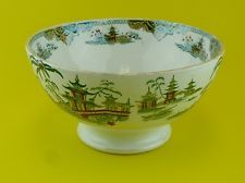 Petrus Regout Maastricht Holland Chinoiserie Transferware Bowl HONG