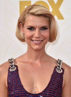 clare danes claire homeland Makeup, Hairstyle Trends 2016, 2017: Review Of The Best Beauty Looks From The 2015 Emmy Awards