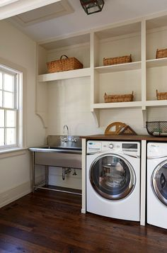 Laundry Room Sink. Laundry room Sink Ideas. The sink in this laundry room is by Whitehaus Collection.  #LaundryRoom #LaundryRoomSink  3 North.