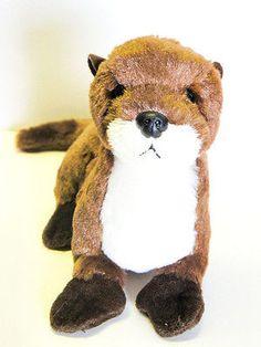 Aurora Stuffed Plush Beanie River Otter Animal 9in