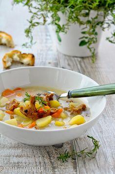 Zupa kurkowa z cząbrem