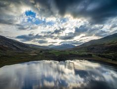 Welsh Sunset - Phantom 3 picture 3 Picture, Phantom 3, North Wales, Welsh, Mountains, Sunset, Nature, Travel, Naturaleza