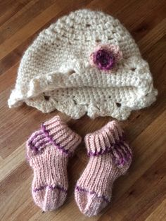 My latest addition to my shop.  BABY SHOWER GIFT, Hand Crocheted Hat with Hand Knit Socks.  Alpaca Blend.  https://etsy.me/2vd8VHc #clothing #children #baby #white #babyshower #pink #babyshowergift #babygirl #babyset    SALE STILL ON SAVE 20% ON ENTIRE SHOP THRU 5/1/18