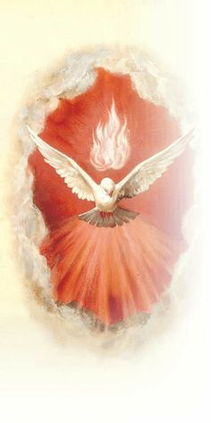 The Holy Spirit Jesus sent to us after His ascension. Christian Paintings, Christian Art, Christian Images, Pictures Of Jesus Christ, Religious Pictures, Catholic Art, Religious Art, Vintage Holy Cards, Jesus Art