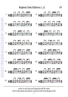 Beginner funk beats lesson 2 page1