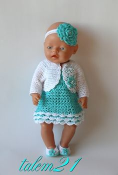 18 trendy ideas for baby born crochet clothes Crochet Doll Clothes, Doll Clothes Patterns, Crochet Dolls, Girl Dolls, Baby Dolls, Baby Born Clothes, Kate Baby, American Doll Clothes, Baby Girl Crochet