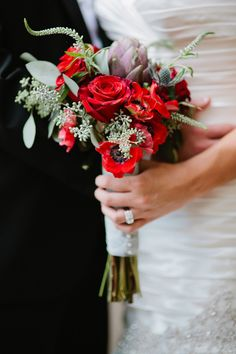 Artichokes bouquet | bouquet con carciofi | Grigio blu, rosso e carciofi http://theproposalwedding.blogspot.it/