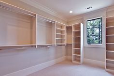 Master Closet. The money saved on not buying a chest of drawers makes this possible!! Maybe