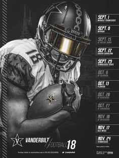 2018 FBS NCAA College Football Schedule Posters Related posts:East Urban Home 'American Football Sport Player Childrens' - Unframed Graphic Art Print on PaperNFL Introducing the Basic Route CombinationsReduzierte Herrenschirmmützen College Football Schedule, College Football Teams, Football Program, Football Uniforms, Football Outfits, Football Helmets, American Football, Vanderbilt Football, Football Poses