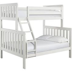 Canwood Lakecrest Twin Over Full Bunk Bed, White - Walmart.com