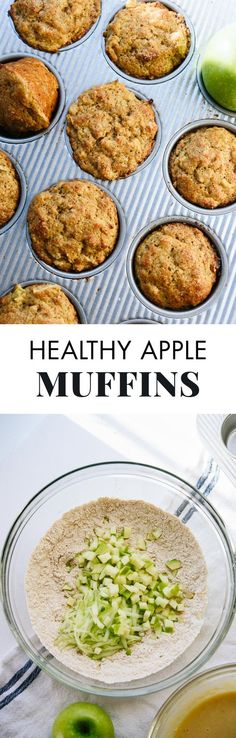 No one will suspect that these fluffy cinnamon apple muffins are healthy, too! cookieandkate.com