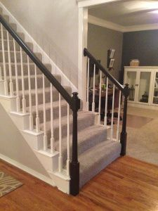 How to paint with Java Gel Stain. How to stain wood cabinets or stair railings.