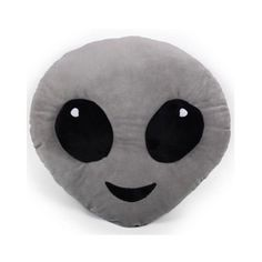 ALIEN EMOJI PILLOW ($25) ❤ liked on Polyvore featuring home, home decor, throw pillows, fillers, pillows and alien
