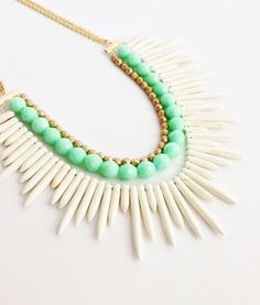 Tribal Spike Necklace by HansonDesign on Etsy, $52.00