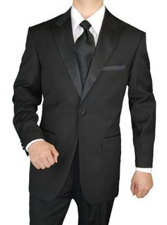 Giorgio Napoli Men's Tuxedo Suit 1 Button Peak Lapel Adjustable Pants Black, http://www.amazon.com/dp/B00DP4RGSW/ref=cm_sw_r_pi_awdm_E.qEtb145ET81