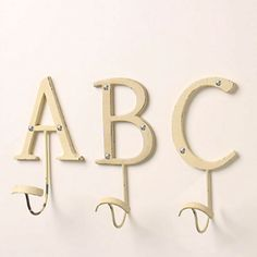 Letter hooks from anthropologie.com