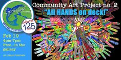 """community art projects """"all hands on Deck"""" Community Service Projects, Community Art, Collaborative Art Projects, Activity Room, Family Fun Day, Interactive Art, School Projects, Home Art, Art For Kids"""