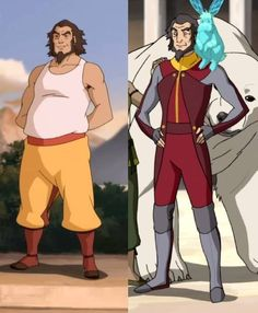 Legend of Korra and Avatar How Bumi has changed in 3 years