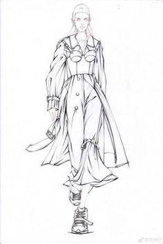 How to Draw a Fashionable Dress - Fashion Sketches - mode Fashion Design Sketchbook, Fashion Design Portfolio, Fashion Design Drawings, Art Sketchbook, Illustration Mode, Fashion Illustration Sketches, Fashion Sketches, Medical Illustration, Moda Fashion