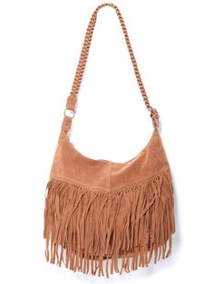 #Fringe Suede Bag