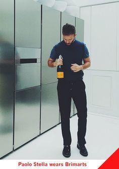 Paolo Stella wears Brimarts