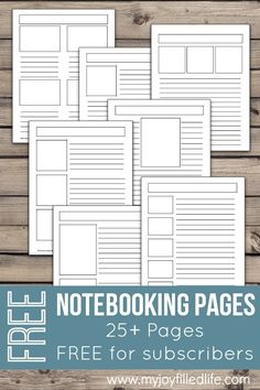 FREE Notebooking Pages - 25+ free blank templates