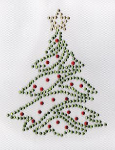 AmazonSmile: xMas Tree Iron On Hot Fix Rhinestone Transfer -- green