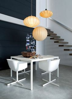 Small Space Inspiration: Poliform's Italian Furniture Design, Modern Interior Design, White Furniture, Interior Ideas, Luxury Dining Room, Dining Room Design, Dining Rooms, Modern Dining Table, Small Dining