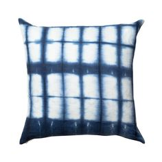 Rebecca Atwood cobalt blue Shibori pillow, $309; rebeccaatwood.com