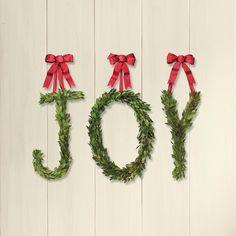 JOY letter wreaths