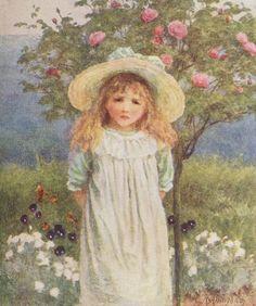 In the Farmhouse Garden ~ Helen Allingham  (English 1848-1926)