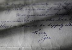 This photo shows part of a three-page handwritten letter from baseball legend Joe DiMaggio to Marilyn Monroe that was postmarked Oct. 9, 1954.
