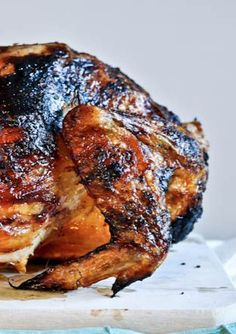 Brown Sugar Butter Roasted Chicken Recipe | howsweeteats.com