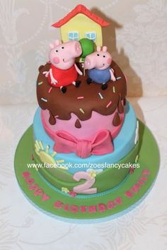 Peppa Pig tutorial - Cake by Zoe's Fancy Cakes