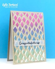 Kylie Bertucci Happy Patterns Decorative Masks - Click on the picture to see more of Kylie's designs. #stampinup #handmadecard #handmade #FMS200 #freshlymadesketches #happypatterns