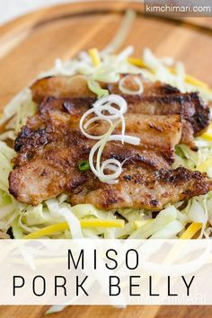 Miso Pork Belly ! Less traditional Korean meat dish perfect for indoor or outdoor BBQ. Enjoy with rice and plenty of veggies!    #koreanfood #recipes #miso #pork #bbq