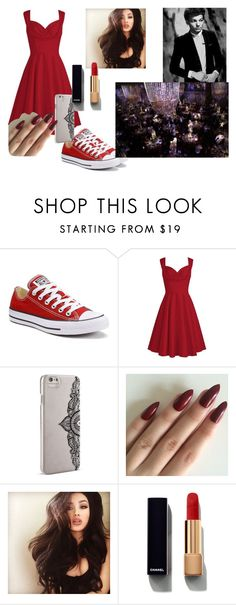 """Red After Party with Louis"" by nialls-wife1 on Polyvore featuring Converse, Nanette Lepore and Chanel"