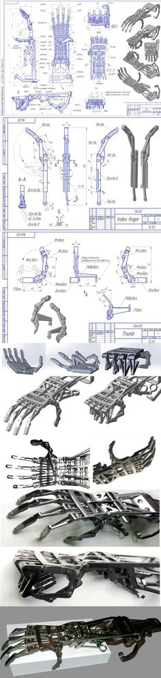 Robotic hand made own - Roboterhand Mechanical Design, Mechanical Engineering, Cyberpunk, 3d Cnc, Robot Arm, 3d Laser, Robot Design, 3d Prints, Drones